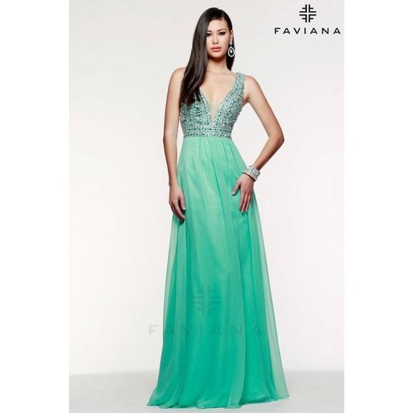 Faviana Dresses | Beautiful Mint Green Prom Dress | Poshmark